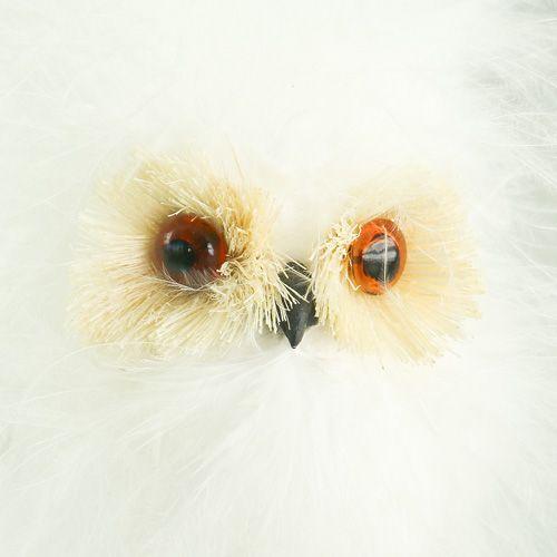 Civetta delle nevi su bastone di legno 7 cm L28 cm 6 pezzi