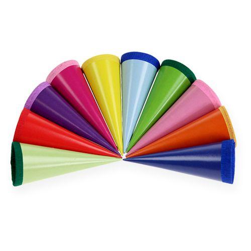 Mini sacchetti di zucchero multicolore 12 cm 10 pezzi