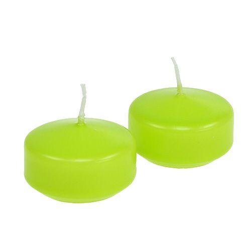 Candele galleggianti verde 4,5 cm 8 pezzi