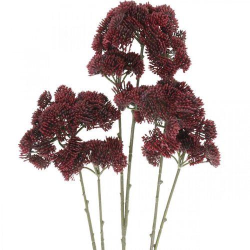 Sedum sedum rosso artificiale decorazione autunnale 70 cm 3 pezzi