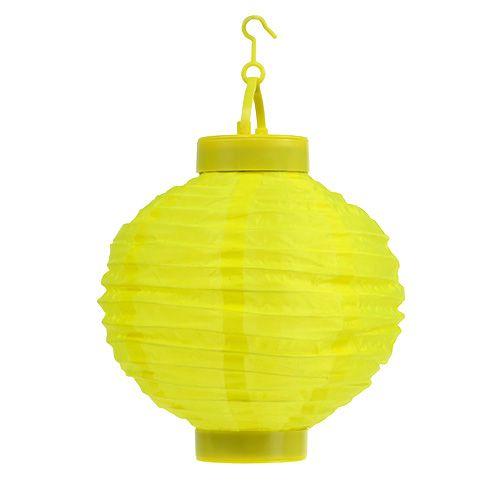 Lampion LED con solare 20cm giallo