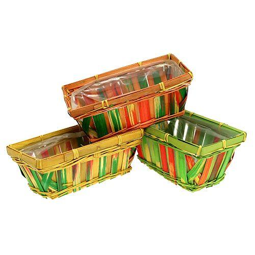 Set cesto spank angolare multicolore 12 pezzi 20 cm x 11 cm