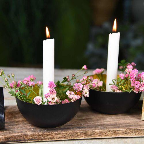 Candela conica candele di cera crema bianca 180mm / Ø21mm 6pz