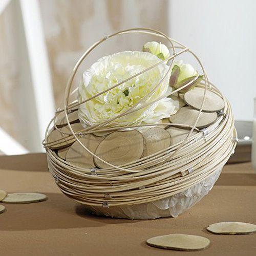 Palla in schiuma floreale palla in schiuma floreale grigia Ø12cm 6 pezzi