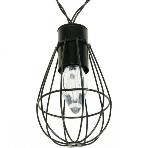 Luci solari a LED decorazione da giardino nero 350cm 8LED