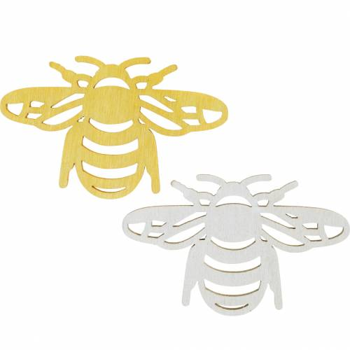 Spolverare decorazione ape, primavera, api in legno per artigianato, decorazione da tavola 48 pezzi
