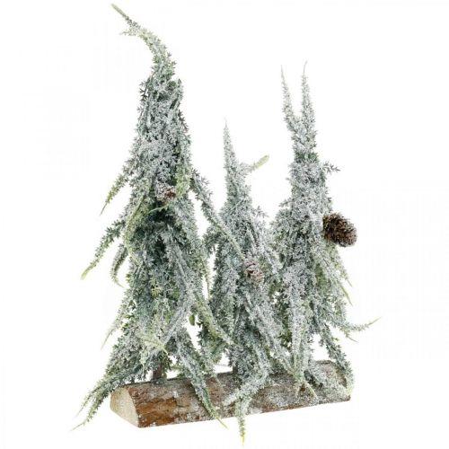Abeti con neve, decorazione dell'Avvento, foresta invernale L16.5cm H28cm