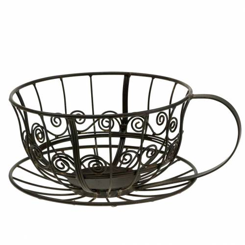 Tazza decorativa marrone scuro Ø23cm H13.8cm