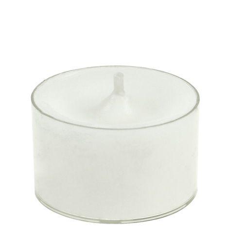 Luci da tè bianche in ciotola di plastica 50p