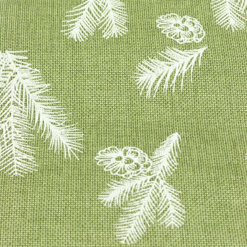 Tovaglia con motivo in abete verde 20 cm 5 m