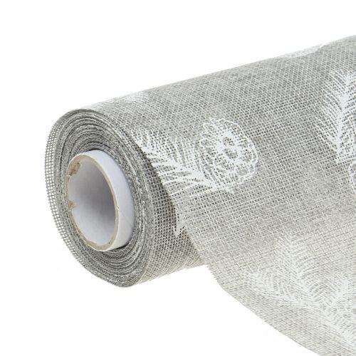 Tovaglia con motivo in abete grigio 20 cm 5 m