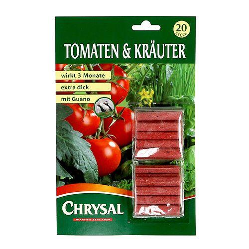 Bastoncini di fertilizzante per pomodori ed erbe (20 pezzi)