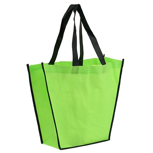 Borsa in pile verde 38 cm x 32 cm 1 pz