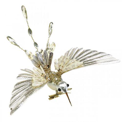 Colibrì, decorazioni per alberi di Natale, uccelli decorativi, decorazioni natalizie L20cm W20cm