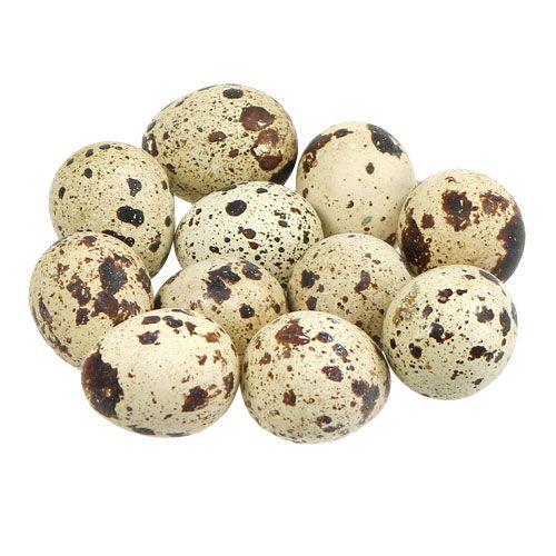 Uova di quaglia naturale 3-3,5 cm 12 pezzi