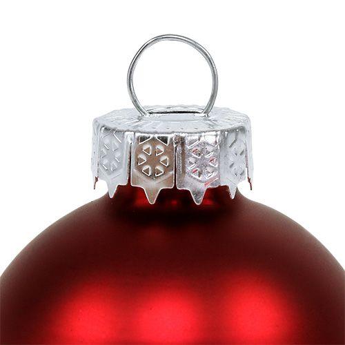 Sfera di Natale in vetro Ø6cm rosso mix 24 pezzi