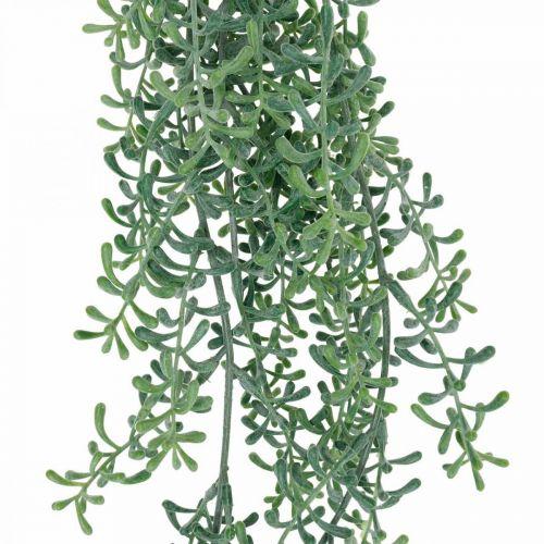 Pianta verde da appendere artificialmente con boccioli verdi, bianchi 100cm