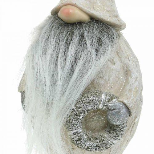 Folletti decorativi con barba e ghirlanda Folletti natalizi 14x × 12 × 36cm