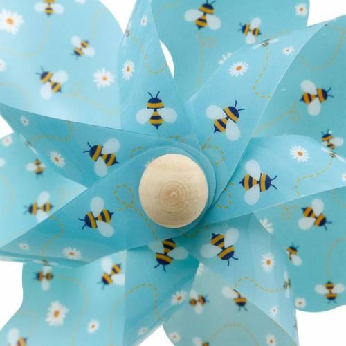 Girandola api turchese Ø16 decorazione estiva campanelli eolici mulino a vento 4 pezzi