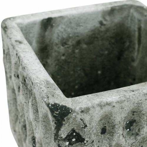 Vaso per piante, vaso in ceramica, decorazione da tavola ottica antica H8cm 4 pezzi