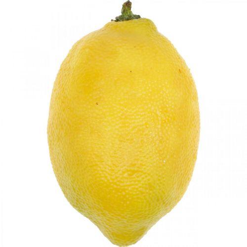 Frutta artificiale, limone, frutta decorativa L8,5cm Ø5cm 4 pezzi