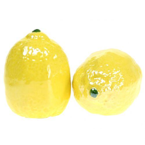 Limone in ceramica 7cm 3 pezzi