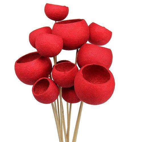 Campanello su stecco mix rosso 15pz