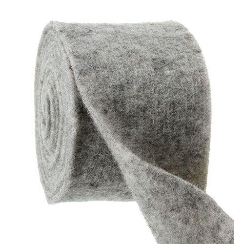 Nastro in feltro grigio 15cm 5m