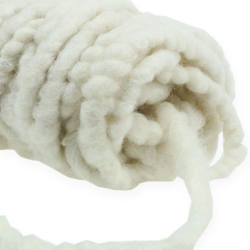 Feltro cordoncino Mirabell 25m bianco