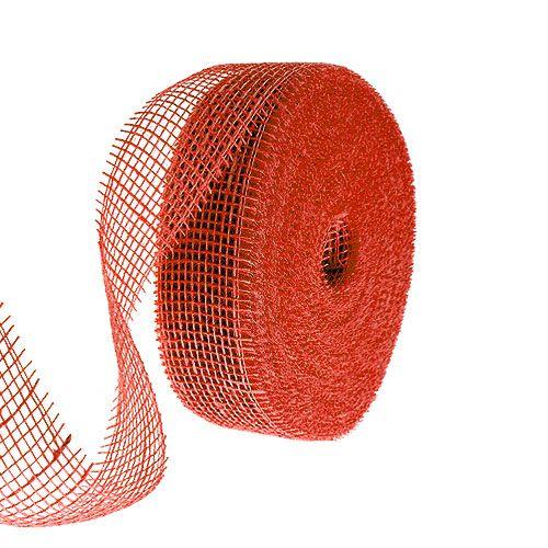 Nastro di iuta rosso 5 cm 40 m