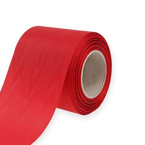 Nastro per ghirlande rosso 75mm 25m