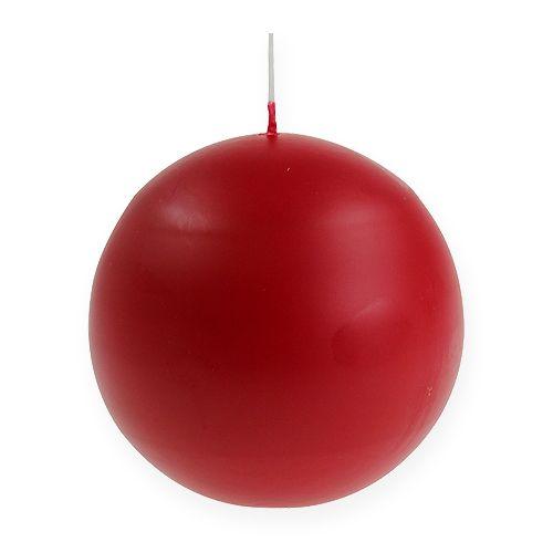 Candele a sfera 100mm rosse 6 pezzi