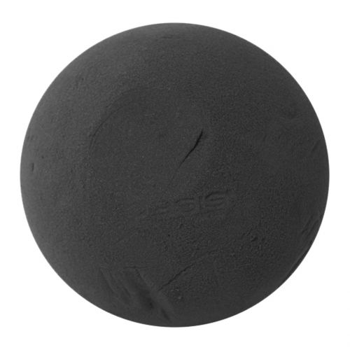 Sfera in schiuma floreale, nera Ø20cm
