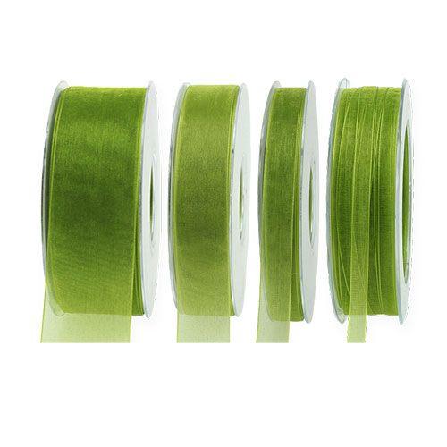 Nastro di organza verde muschio 50m