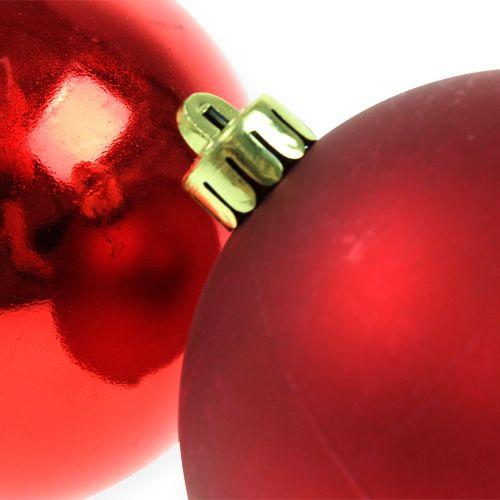 Palla di Natale rossa 10 cm 4 pezzi