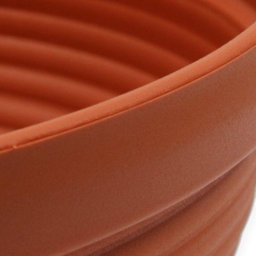 Ciotola in plastica terracotta Ø 13 cm - 19 cm, 10 pezzi