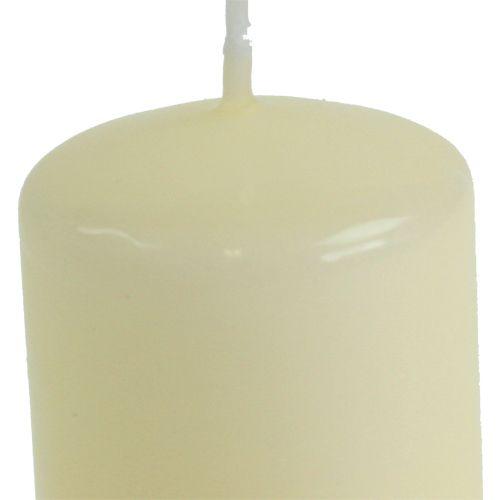 Candela pilastro 120/40 crema 24pz