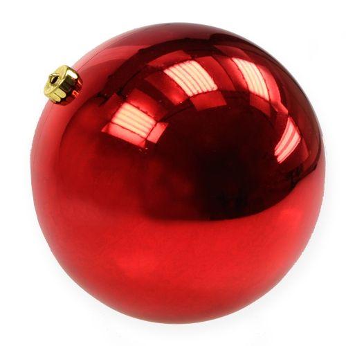 Palla di Natale in plastica rossa grande Ø25cm