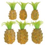 Mini ananas artificiale H6,5 cm - 8 cm 6 pezzi