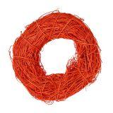 Ghirlanda decorativa arancione in rattan Ø20cm