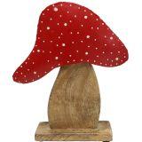 Fungo Figura da decorare natura, rosso 25 cm