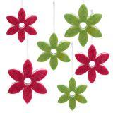 Miscela di fiori in feltro per appendere Ø15-24cm 6 pezzi