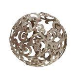 Decorazioni da giardino, sfera di metallo ruggine Ø14cm