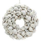 Corona di conchiglie bianca Ø30cm