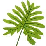 Foglia di filodendro verde 40 cm