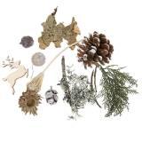 Set per artigianato floreale secco Coni dell'Avvento e muschio lavato bianco 150g
