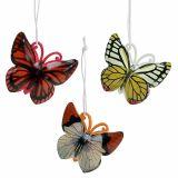 Farfalla per appendere colori assortiti 5,5cm 3 pezzi