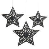 Stella di Natale con ornamenti grigio argento ordinati 8 cm - 12 cm 9 pezzi