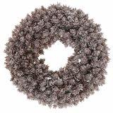 Corona di pigne Ø25cm con glitter