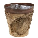 Vaso con betulla e metallo Ø17,5cm H16,5cm 1pc
